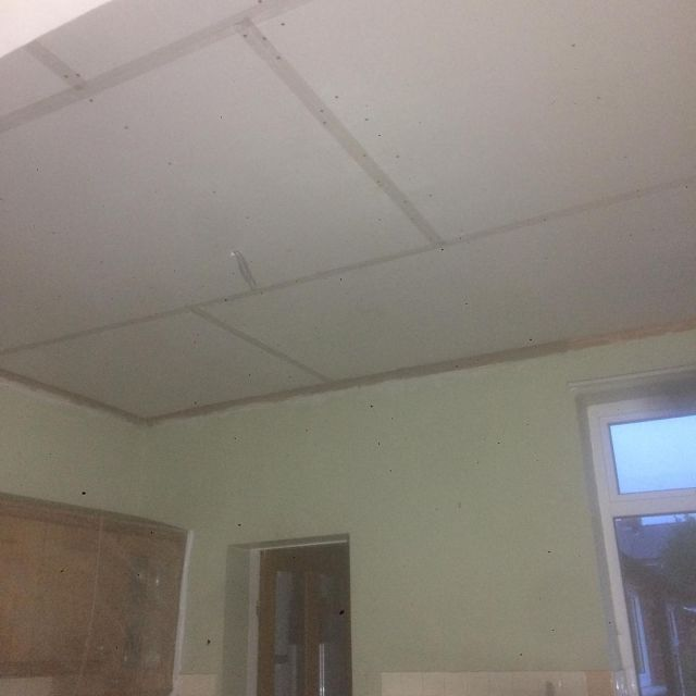 Ceiling Repaird with Plasterboard